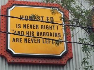 Honest Ed-Bargains left