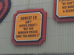 Honest Ed-upper crust